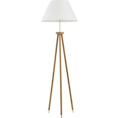 Lampa podłogowa lento 9212 oprawa 1x60w e27 kremowa/brązowa marki Alfa