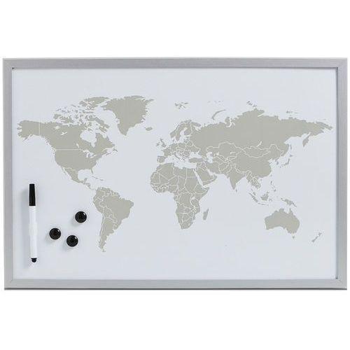 Tablica magnetyczna World + 3 magnesy, 60x40 cm, ZELLER (4003368115733)