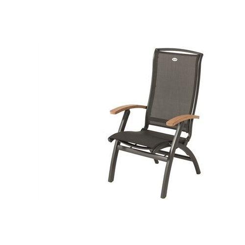 Krzesło ogrodowe w kolorze xerix/black grey | da vinci | podłokietniki z drewna tekowego marki Hartman