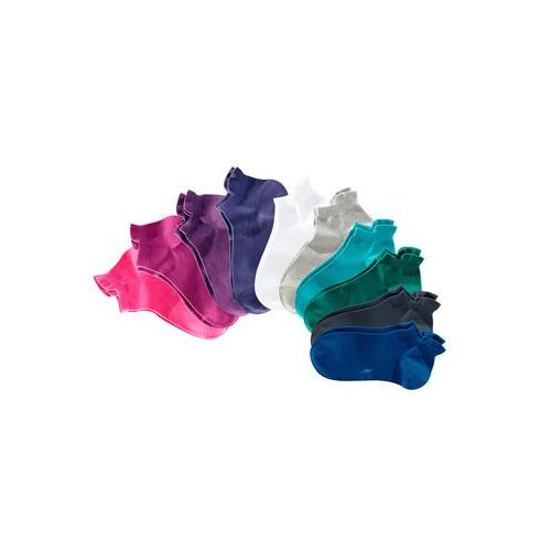 Skarpetki do sneakersów KangaROOS (10 par) bonprix lazurowy + lila + biały
