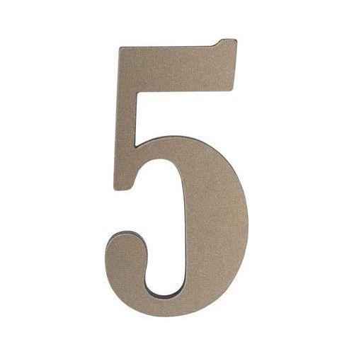 Cyfra 5 wys. 5 cm PVC srebrna (5905367001729)