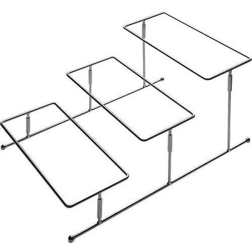 Aps Stand ze stali chromowanej 455x320x215 mm na 3 półmiski | , flexibel