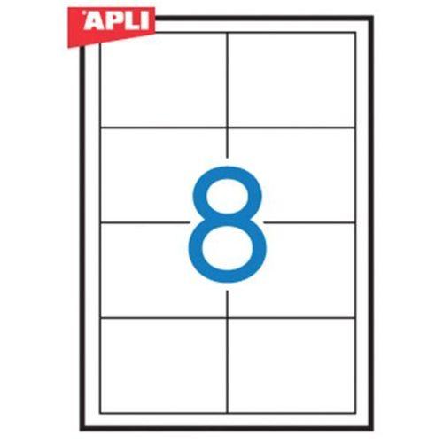 Etykiety uniwersalne APLI, 97x67,7mm, prostokątne, białe 100 ark. (8410782012917)