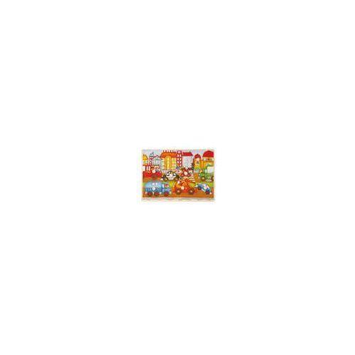 Brimarex Top bright - puzzle drewniane z pinezkami - miasto, holownik