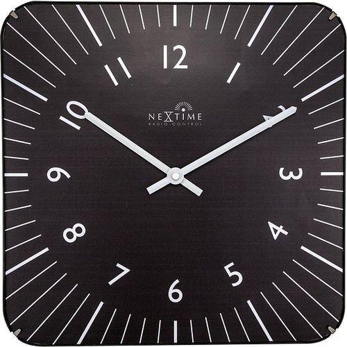 Zegar ścienny Alex RC czarny, kolor czarny