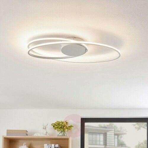 Lindby Xenias lampa sufitowa LED biała, 60 x 35 cm, 25896119983
