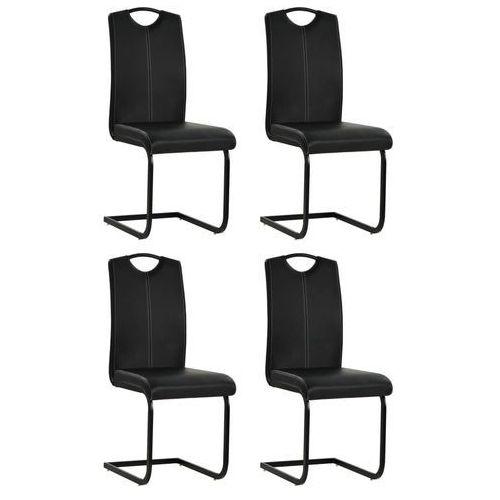 Vidaxl Krzesła do jadalni, 4 szt, sztuczna skóra, 43x55x100 cm, czarne