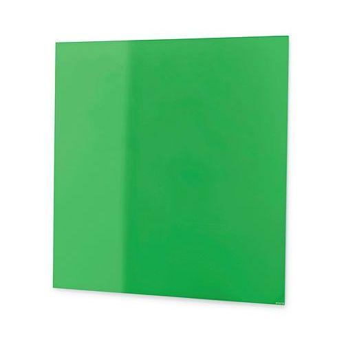 Tablica suchościeralna mood, szkło, magnetyczna, 500x500 mm, zielony marki Aj produkty