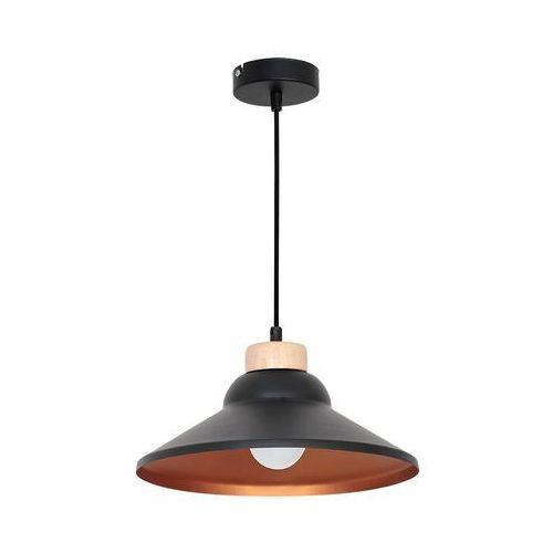 Lampa wisząca single 5 7489 lampa sufitowa 1x60w e27 czarny / miedziany marki Luminex