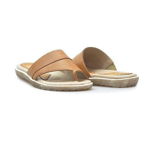 Klapki Simen 0613 K.J.BROWN Brązowe lico, kolor brązowy