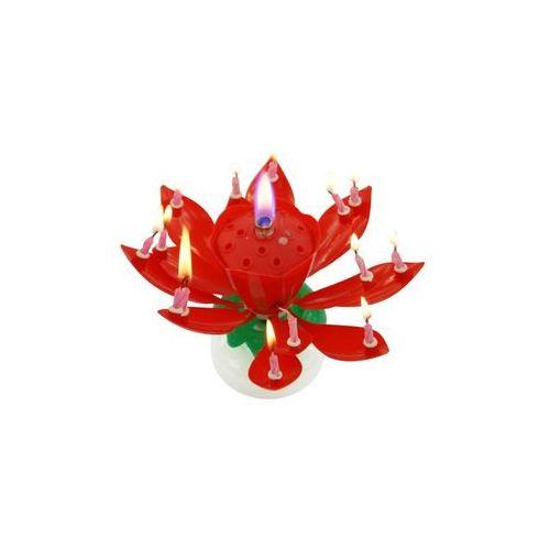 Świeczka grająca - tańcząca - czerwona marki Tamipol