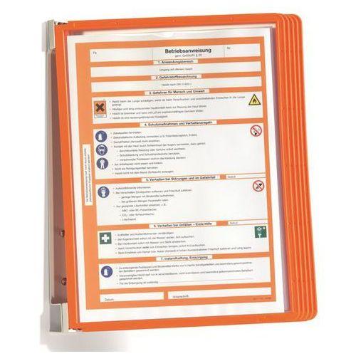 Kompletny zestaw uchwytów ściennych, z 5 przezroczystymi tablicami DIN A4, opak.