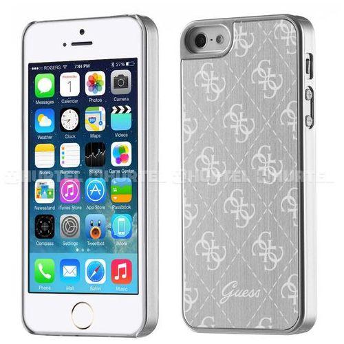 GUESS Hardcase GUHCPSEMESI iPhone 5/5S/SE srebrny 4G Aluminium Plate DARMOWA DOSTAWA DO 400 SALONÓW !! (3700740385241)