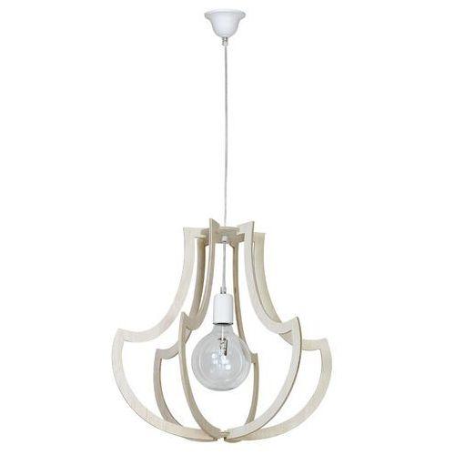 Lampa wisząca drewniania zwis Aldex Jura Róg 1x60W E27 chrom 877G1/22