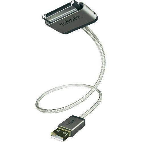 Inakustik Kabel do ipad/iphone/ipod  00440002, [1x złącze męskie usb 2.0 a - 1x złącze męskie apple dock], 2 m (4001985507399)