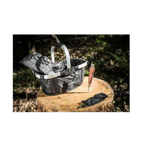 Niezbędnik grzybiarza: składany koszyk + nóż do grzybów + czapka ochronna + opaska na komary. marki G.master