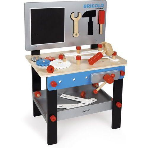 Stolik warsztat drewniany magnetyczny z 24 elementami Bricolo - Janod (3700217364915)