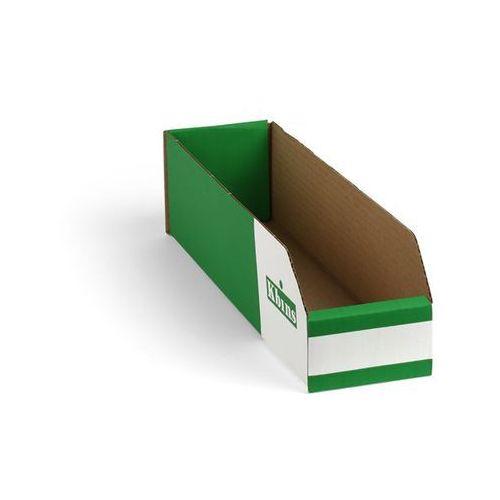 Skrzynki regałowe z kartonu, składane, opak. 150 szt., dł. x szer. x wys. 400x10
