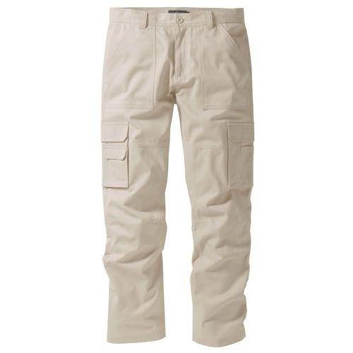 """Spodnie """"bojówki"""" z powłoką z teflonu Regular Fit Straight bonprix piaskowy, bojówki"""