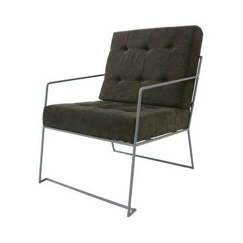 Fotel ze sztruksu ciemnozielony - marki Hk living