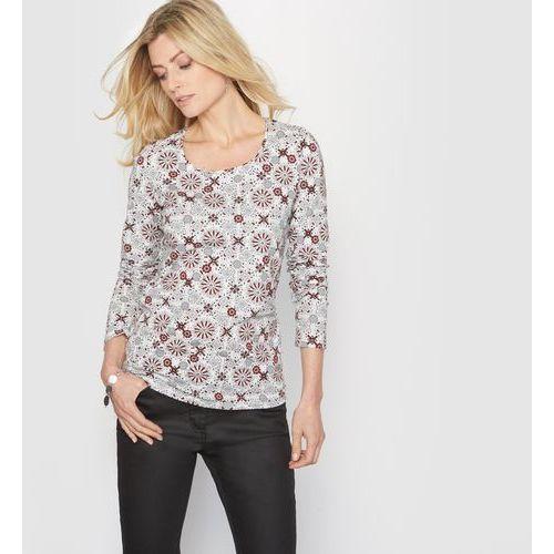 T-shirt z nadrukiem, przewaga bawełny ze stretchem
