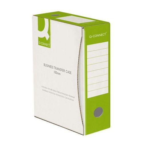 Q-connect Pudło archiwizacyjne , karton, a4/100mm, zielone