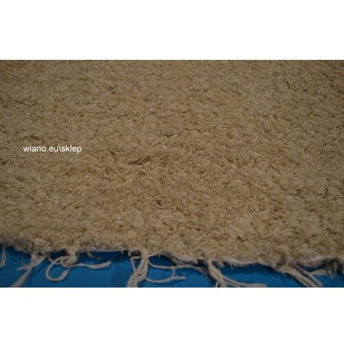 Twórczyni ludowa Chodnik bawełniany, ręcznie tkany, ecru 65x200