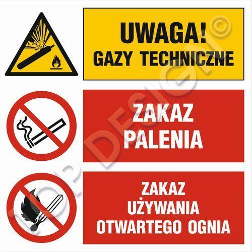 Uwaga! gazy techniczne, zakaz palenia, zakaz używania otwartego ognia marki Top design. Najniższe ceny, najlepsze promocje w sklepach, opinie.