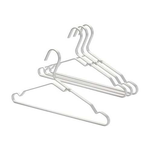Brabantia - Zestaw 4 wieszaków na ubrania, srebrny - srebrny (8710755118661)