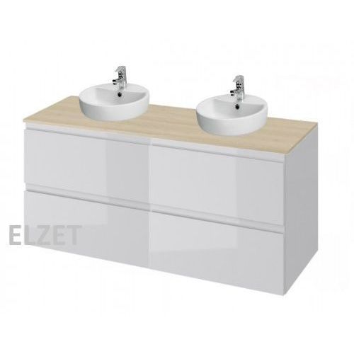 Cersanit szafka moduo szary połysk pod 2 umywalki nablatowe + blat 120 2xs929-009+s590-025