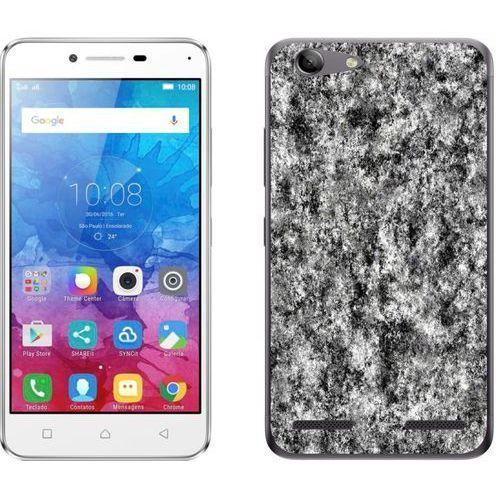 Lenovo K5 / K5 Plus - etui na telefon - Kolekcja marmur - marble grafit - H18