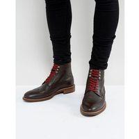 Dune Pebble Brogue Boots In Brown - Brown, kolor brązowy