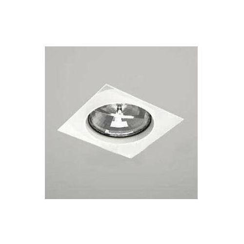 Podtynkowa LAMPA sufitowa KOMORO 7324 Shilo kwadratowa OPRAWA spot OCZKO metalowy wpust biały (5903689973243)