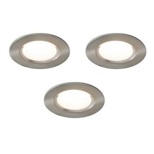 Oczko LED Colours Thorold 2700/4000 K okrągłe stal szczotkowana 3 szt.