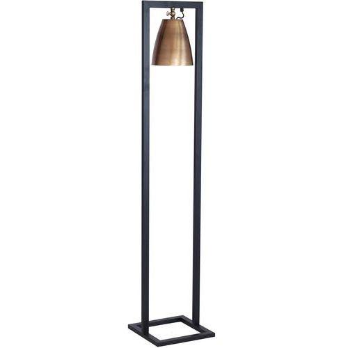 Lampa podłogowa stojąca oprawa Luminex Sima 1x60W E27 czarny/mosiądz 3981, 3981