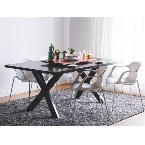 Zestaw do jadalni 2 krzesła białe elbert marki Beliani