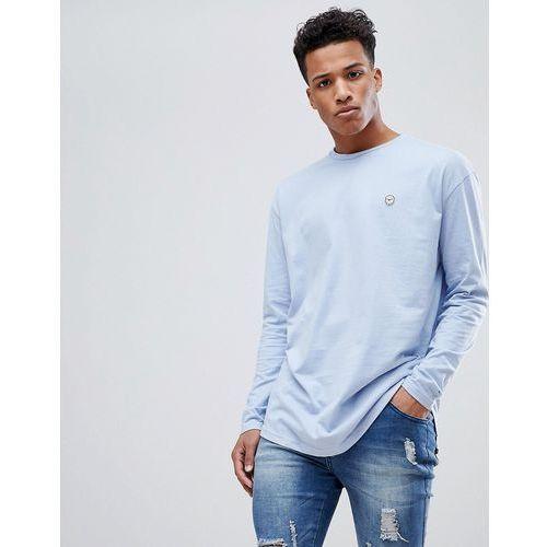 oversized long sleeve top/scoop hem - blue marki Le breve