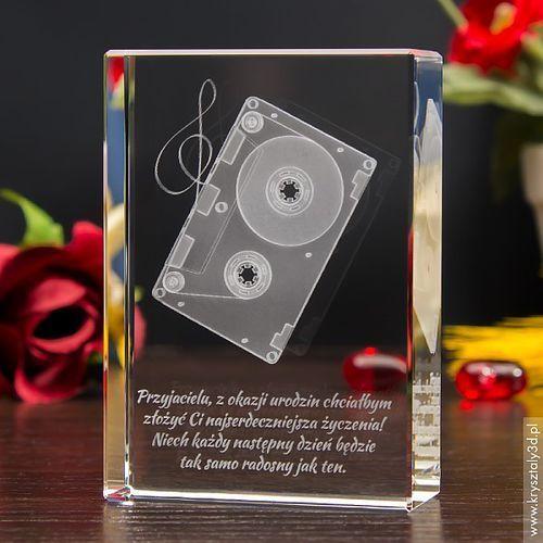 Kaseta 3D • personalizowany laserowo kryształ 3D • GRAWER 3D
