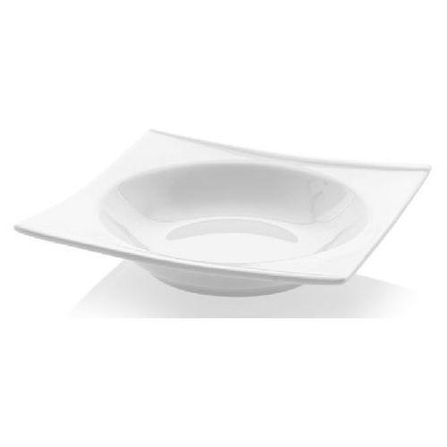 Fine dine Talerz głęboki kwadratowy porcelanowy bianco