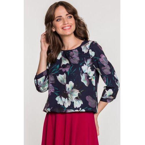 Lara fabio Elegancka bluzka w kwiaty -