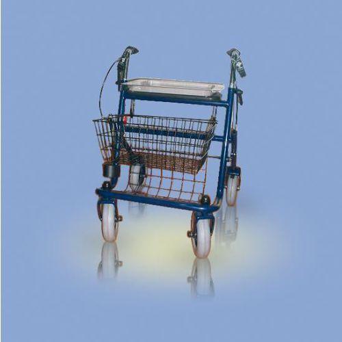 Chodzik stalowy, czterokołowy, z koszem CA880 Antar - sprawdź w wybranym sklepie