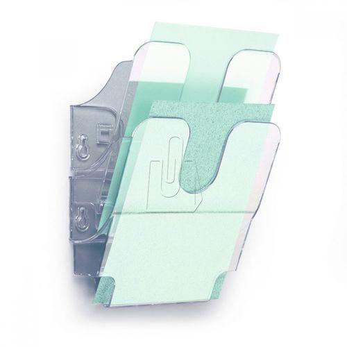 Zestaw dwóch pionowych pojemników Durable Flexiboxx A5 przeźroczysty 1709013400 (7318089013402)