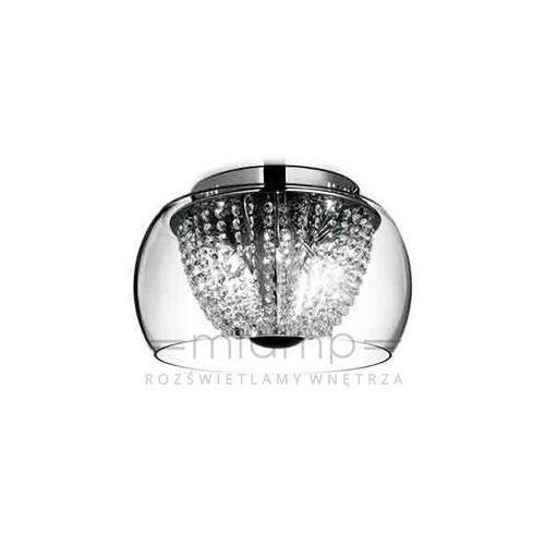 Orlicki design Kryształowa lampa sufitowa lexus 400 pl claro okrągła oprawa crystal przezroczysty