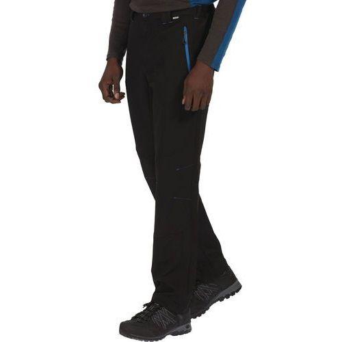 questra spodnie długie mężczyźni long czarny 56-długie 2017 spodnie softshell marki Regatta