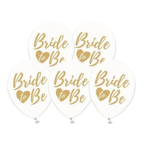 Party deco Balony przezroczyste ze złotym nadrukiem bride to be - 30 cm - 50 szt.