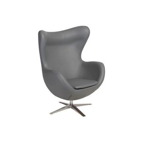 Fotel Jajo Soft skóra ekologiczna 508 szary, kolor szary