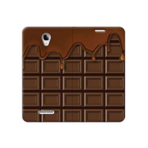 Alcatel pop 4 - etui na telefon flex book fantastic - tabliczka czekolady marki Etuo flex book fantastic