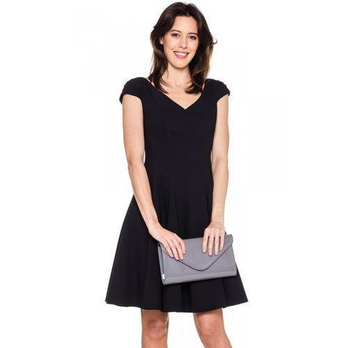 Czarna princeska z modelującymi cięciami - Vito Vergelis, 1 rozmiar