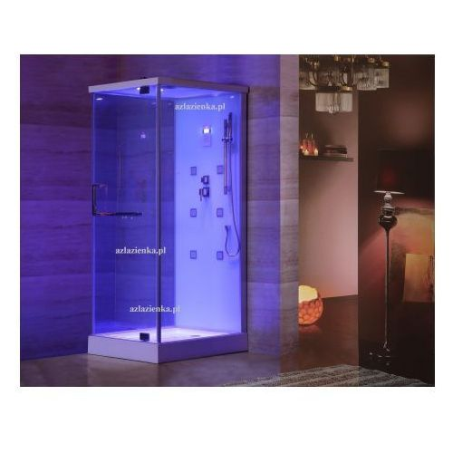 Kabina prysznicowa z hydromasażem 80cm x 100cm biała