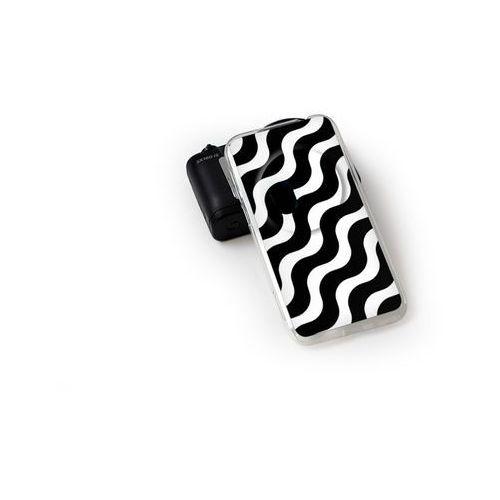 Fantastic Case - Asus Zenfone Zoom - etui na telefon Fantastic Case - biało-czarna fala z kategorii Futerały i pokrowce do telefonów